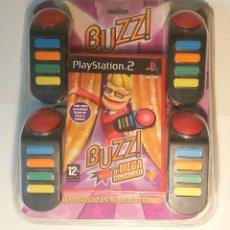 Videojuegos y Consolas: JUEGO BUZZ PS2 - CON EMBALAJE - MANDOS, JUEGO Y MANUAL. Lote 199340400