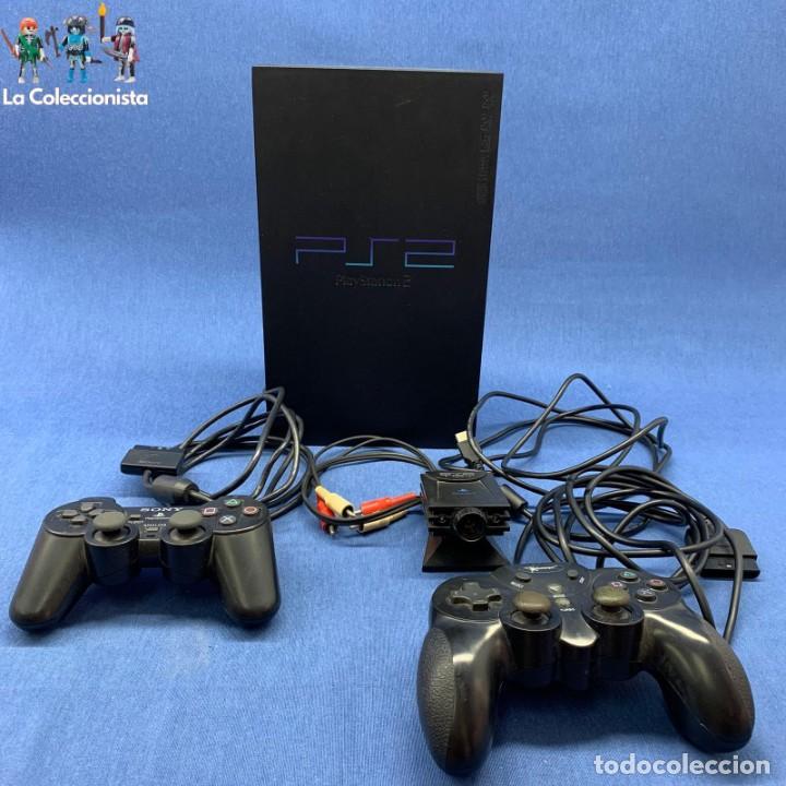 CONSOLA PLAYSTATION 2 + 1 MANDO ORIGINAL + CÁMARA EYE TOY - PS2 (Juguetes - Videojuegos y Consolas - Sony - PS2)