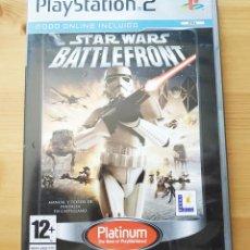 Videojuegos y Consolas: JUEGO PLAY STATION 2 , STAR WARS BATTLEFRONT EDICION PLATINUM , COMPLETO. Lote 203793051