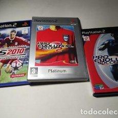 Videojuegos y Consolas: LOTE / PACK PRO 1 - 2 Y 2010 (PLAYSTATION 2 - PS2 - PAL - ESP ). Lote 204224128