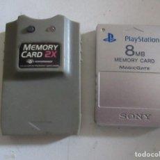 Videojuegos y Consolas: DOS TARJETAS DE MEMORY CARD. Lote 204627850