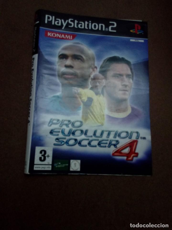 SOLAMENTE LA CARATULA. PRO EVOLUTION SOCCER 4. (Juguetes - Videojuegos y Consolas - Sony - PS2)