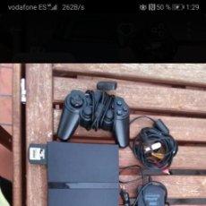Videojuegos y Consolas: PS2 + MEMORIA + 2 MANDOS + CABLES + 3 JUEGOS. Lote 205076716