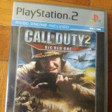 Videojuegos y Consolas: CALL OF DUTY 2 : BIG RED ONE ( PLAYSTATION 2- PAL-ESPAÑA) COMPLETO MUY POCOS SIGNOS DE USO. Lote 205551621