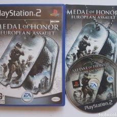 Videojuegos y Consolas: MEDAL OF HONOR EUROPEAN ASSAULT PS2 PLAYSTATION 2. Lote 205685147
