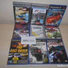 Videojuegos y Consolas: PS2 - PACK DE 8 JUEGOS CARRERAS , PAL ESPAÑOLES. Lote 205704845