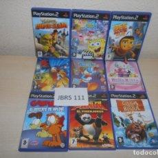 Videojuegos y Consolas: PS2 - PACK DE 9 JUEGOS INFANTILES , PAL ESPAÑOLES. Lote 205705412