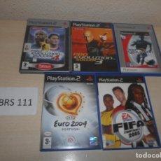 Videojuegos y Consolas: PS2 - PACK DE 5 JUEGOS FUTBOL , PAL ESPAÑOLES. Lote 205705936