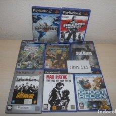 Videojuegos y Consolas: PS2 - PACK DE 9 JUEGOS ACCION & BELICOS , PAL ESPAÑOLES. Lote 205706500