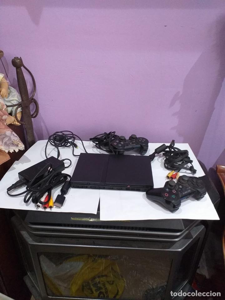 JUEGO PLAYSTATION 2 CON DOS MANDOS CABLES - VER FOTOS (Juguetes - Videojuegos y Consolas - Sony - PS2)