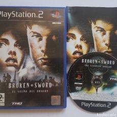 Videojuegos y Consolas: BROKEN SWORD EL SUEÑO DEL DRAGÓN PS2 PLAYSTATION 2. Lote 206188220