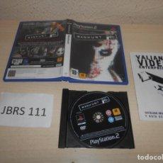Videojuegos y Consolas: PS2 - MANHUNT , PAL ESPAÑOL , COMPLETO. Lote 206359913