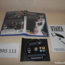 Videojuegos y Consolas: PS2 - MANHUNT , PAL ESPAÑOL , COMPLETO. Lote 206359986