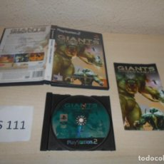 Videojuegos y Consolas: PS2 - GIANTS CITIZEN KABUTO , PAL ESPAÑOL , COMPLETO. Lote 206360186