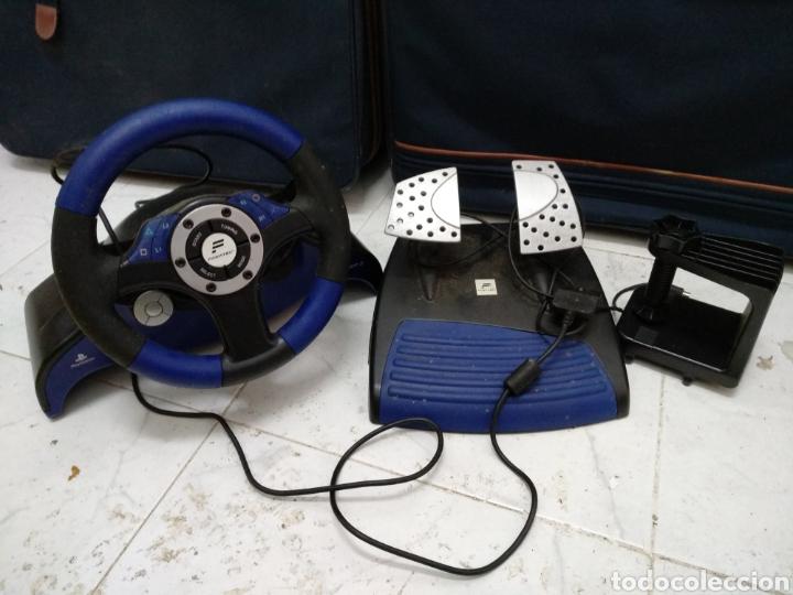 PLAYSTATION VOLANTE Y PEDALES (Juguetes - Videojuegos y Consolas - Sony - PS2)