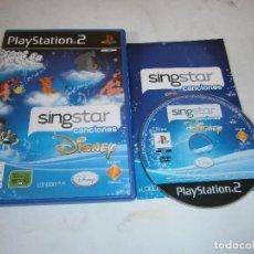 Videojuegos y Consolas: SINGSTAR CANCIONES DISNEY PLAYSTATION 2 PAL ESPAÑA COMPLETO. Lote 206781652
