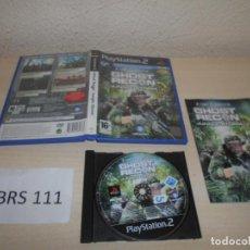 Videojuegos y Consolas: PS2 - GHOST RECON JUNGLE STROM , PAL ESPAÑOL , COMPLETO. Lote 206916603