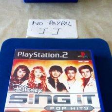 Videojuegos y Consolas: PLAY STATION 2 DISNEY SING IT POP HITS NO PROBADO DESCONOZCO SI FUNCIONA. Lote 209009143