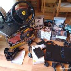 Videojuegos y Consolas: LOTE PS2 VOLANTE THRUSTMASTER 360 MODENA 19 JUEGOS CONSOLA PLAYSTATION 2 MC MULTITAP FUNCIONA TODO. Lote 210465685