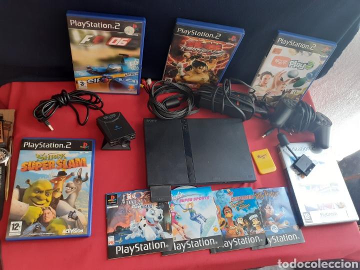 CONSOLA PLAYSTATION 2 CON EL MANDO+CAMARA+CARGADOR+LOSJUEGOS (Juguetes - Videojuegos y Consolas - Sony - PS2)