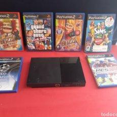Videojuegos y Consolas: CONSOLA PLAYSTATION 2 + JUEGOS. Lote 213322726