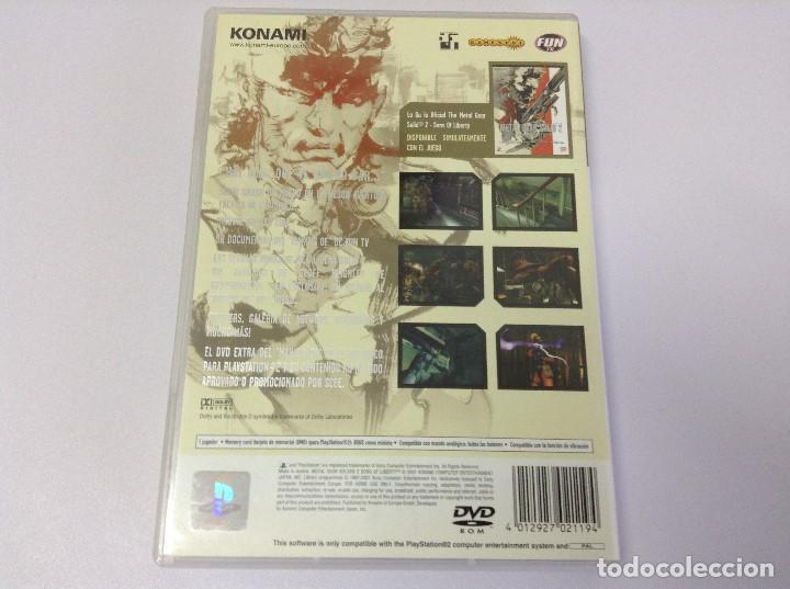 Videojuegos y Consolas: METAL GEAR SOLID 2 1ª EDICION , CAJA BLANCA - Foto 2 - 213442747