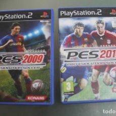 Videojuegos y Consolas: 2 JUEGOS PES2009 PES 2010 PS2. Lote 213739982
