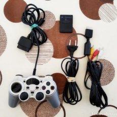 Videojuegos y Consolas: CABLES + MANDO COMPATIBLE + MEMORY CARD 8 MB PARA CONSOLA PLAY 2 - PLAYSTATION 2 - PLAY2 - SONY. Lote 214467702
