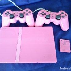 Videojuegos y Consolas: CONSOLA SONY PLAYSTATION 2 SLIM ROSA / PS2 PINK + 2 MANDO ORIGINAL +MEMORY CARD. Lote 215180647