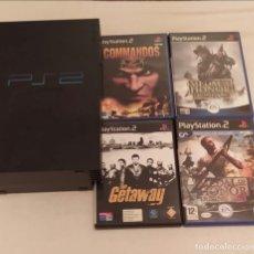 Videojuegos y Consolas: PLAYSTATION 2, 1 MANDO, TARJETA DE MEMORIA DE 8 GB Y 4 JUEGOS. Lote 216477582