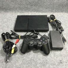 Videojuegos y Consolas: CONSOLA SONY PSTWO+MANDO+AV+AC PS2 PLAYSTATION 2 SLIM. Lote 219188998