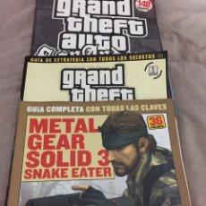 Jeux Vidéo et Consoles: 5 GUÍAS GTA SAN ANDREAS Y METAL GEAR 3. Lote 220427940