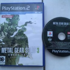 Jeux Vidéo et Consoles: METAL GEAR SOLID 3 SNAKE EATER PS2 PLAYSTATION 2 PLAY STATION TWO KREATEN. Lote 220428033
