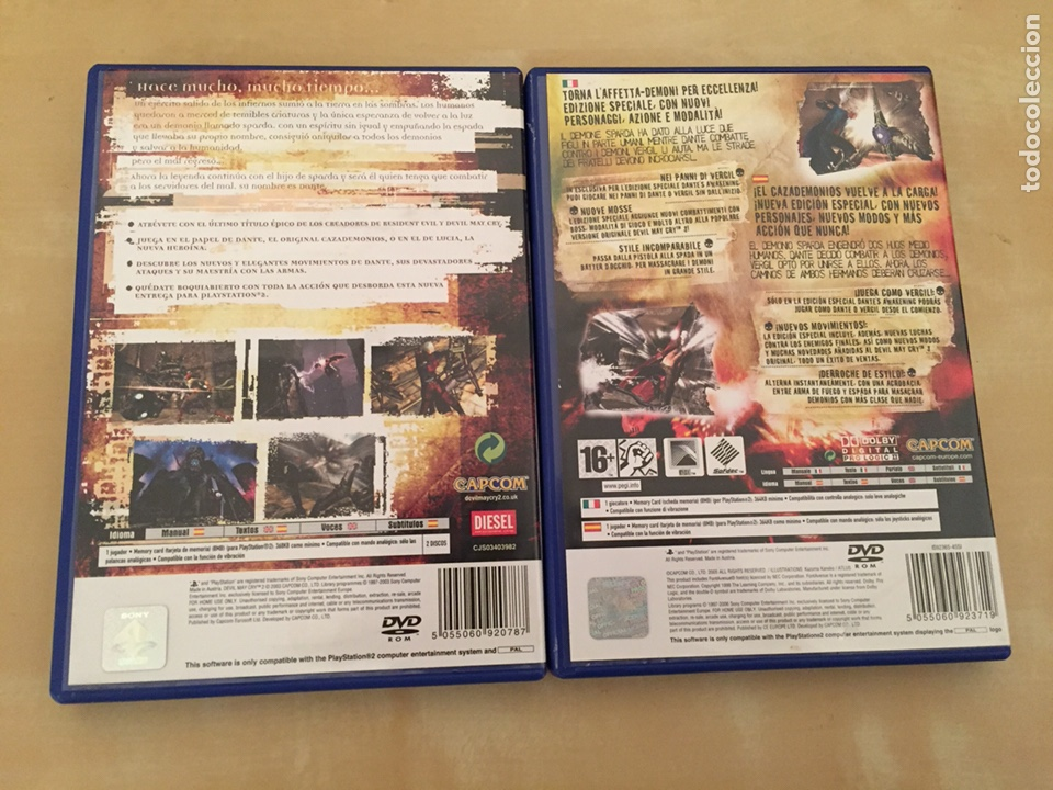 Videojuegos y Consolas: Devil may cry 2 y 3 (special edition) - pal españa - completo ps2 lote - Foto 2 - 221517503