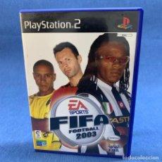 Jeux Vidéo et Consoles: VIDEOJUEGO PLAY STATION 2 - PS2 - FIFA FOOTBAL 2003 + CAJA + INSTRUCCIONES - PAL. Lote 221568138