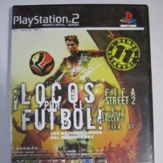 Videojuegos y Consolas: JUEGO PLAYSTATION 2 LOCOS POR EL FUTBOL 11 JUEGOS JUGABLES. Lote 221742741