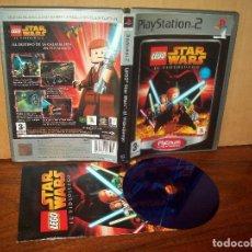 Videojuegos y Consolas: STAR WARS EL VIDEOJUEGO - PLAYSTATION 2 PAL ESPAÑA COMPLETO PLATINUM - JUEGO COMO NUEVO. Lote 222199593