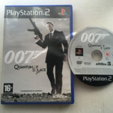 Videojuegos y Consolas: 007 QUANTUM OF SOLACE JAMES BOND PS2 PLAYSTATION 2 PLAY STATION TWO KREATEN. Lote 222578111