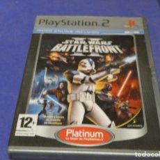Videojuegos y Consolas: EXPRO JUEGO PLAYSTATION 2 COMPLETO PLATINUM STAR WARS BATTLEFRONT. Lote 222902897