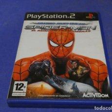 Videojuegos y Consolas: EXPRO JUEGO PLAYSTATION 2 COMPLETO SPIDER-MAN WEB OF SHADOWS LEVES SEÑALES USO DISCO. Lote 222902963