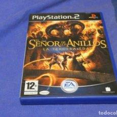 Videojuegos y Consolas: EXPRO JUEGO PLAYSTATION 2 COMPLETO EL SEÑOR DE LOS ANILLOS 3A EDAD CD MUY BUEN ESTADO. Lote 222904232