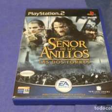 Videojuegos y Consolas: EXPRO JUEGO PLAYSTATION 2 COMPLETO EL SEÑOR DE LOS ANILLOS LAS DOS TORRES CD CORRECTO. Lote 222904632