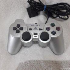 Videojuegos y Consolas: MANDO PLAYSTATION PLATA PS2 SILVER. Lote 223920028