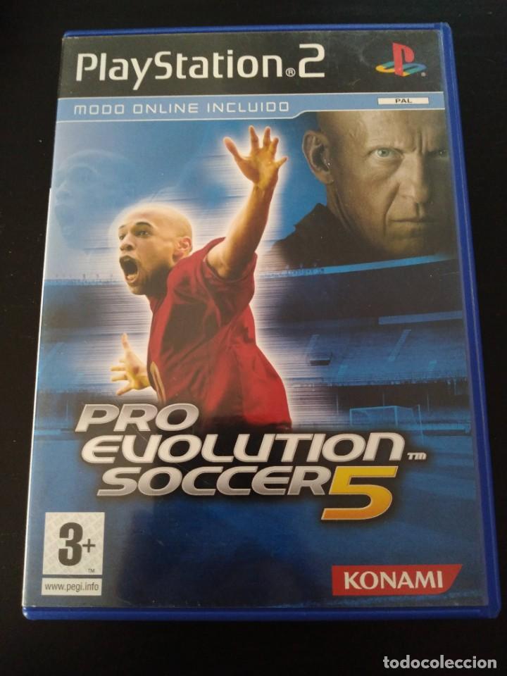 Videojuegos y Consolas: Pro Evolution Soccer 5 pes Konami PS2 + manual - Foto 2 - 226768130