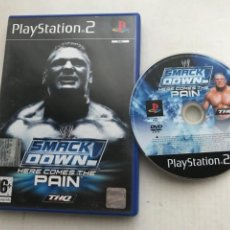Videojuegos y Consolas: WWE SMACK DOWN HERE COMES THE PAIN PS2 PLAYSTATION 2 PLAY STATION TWO KREATEN. Lote 227918035