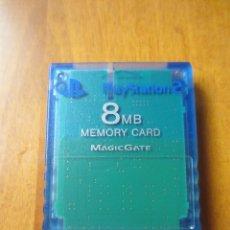 Videojuegos y Consolas: TARJETA MEMORIA SONY PLAYSTATION TRANSPARENTE. Lote 228372820