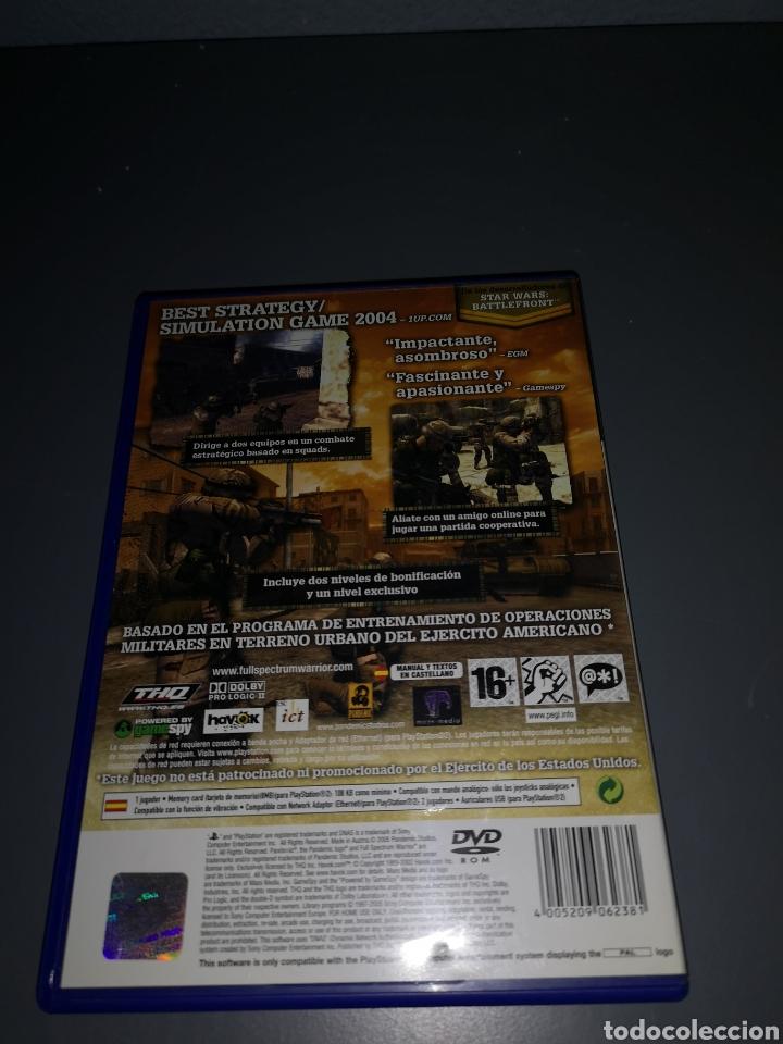 Videojuegos y Consolas: AD4. JUEGO PLAYSTATION 2. FULL SPECTRUM WARRIOR - Foto 2 - 233203790