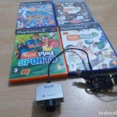 Videojuegos y Consolas: CAMARA Y 4 JUEGOS EVE TOY PS2. Lote 233936310