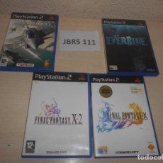 Videojuegos y Consolas: FINAL FANTASY X + FINAL FANTASY X-2 + EVERBLUE + ACE COMBAT - TODOS SIN INSTRUCIONES. Lote 234573975