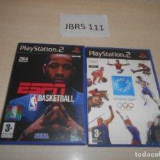 Videojuegos y Consolas: ESPN NBA BASKETBALL + ATHENS 2004. Lote 234574480